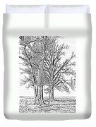 Winter Oaks IIi Duvet Cover