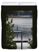 Winter On Lake Coeur D' Alene Duvet Cover