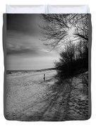 Winter On The Beach  Duvet Cover