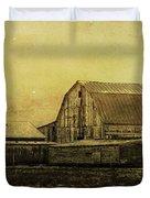 Winter On The Farm Duvet Cover
