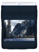 Winter On The Valley Floor Duvet Cover