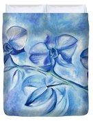 Winter Orchids Duvet Cover