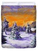 Winter Outlook Duvet Cover