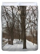 Winter Picnic Duvet Cover