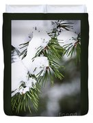 Winter Pine Branches Duvet Cover