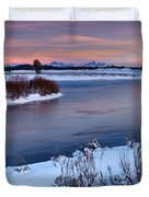 Winter Quiet And Colorful Duvet Cover