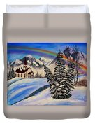 Winter Rainbow Duvet Cover