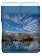 Winter Reflections Duvet Cover by Adrian Evans