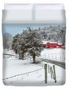 Winter Road Duvet Cover by Bill Wakeley