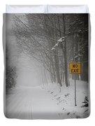 Winter Road During Snowfall I Duvet Cover