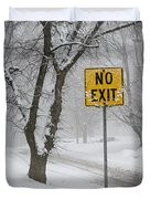 Winter Road During Snowfall IIi Duvet Cover