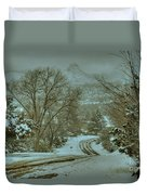 Winter Road Duvet Cover