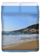 Winter Sand Beach Acadia Duvet Cover