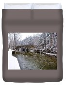 Winter Scene At Valley Green Duvet Cover