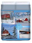 Winter Scenes  Duvet Cover