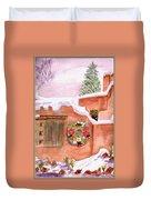 Winter Season Adobe Duvet Cover