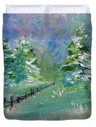 Winter Silence Duvet Cover by Lauren Heller