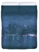 Winter Skyline Duvet Cover
