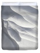 Winter Snow Drift Sculpture  Duvet Cover