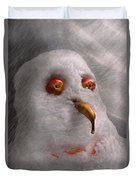 Winter - Snowman - What Are You Looking At Duvet Cover