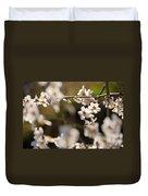 Winter Spring Almond Flowers Duvet Cover