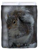 Winter Squirrel 1 Duvet Cover