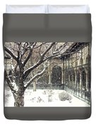 Winter Storm At The Cloisters 3 Duvet Cover