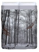 Winter Storm In The Forest Duvet Cover