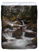 Winter Stream Tranquility Duvet Cover