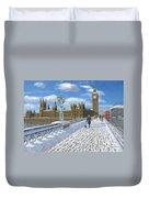 Winter Sun - Houses Of Parliament London Duvet Cover