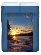 Winter Sundown Duvet Cover
