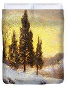 Winter Sundown Duvet Cover