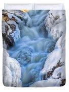 Winter Sunrise Great Falls Duvet Cover