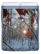 Winter Sunset 2 Duvet Cover