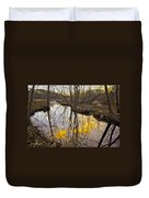 Winter Sunset At Williston Mill Duvet Cover