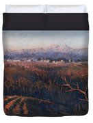 Winter Sunset In Brianza Duvet Cover