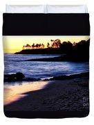 Winter Sunset In Laguna Beach II Duvet Cover