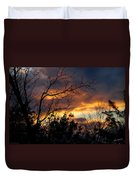 Winter Sunset In The Rogue Valley Duvet Cover