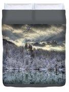 Winter Sunset Duvet Cover by Ivan Slosar