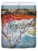 Winter Sunset Duvet Cover by Vadim Levin