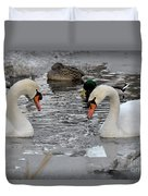 Winter Swans  Duvet Cover
