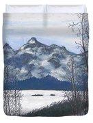 Winter Tetons Duvet Cover