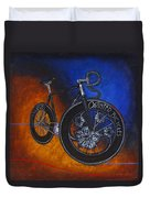 Winter Track Bicycle Duvet Cover