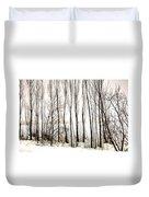 Winter Tree Fence 13283 Duvet Cover