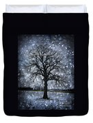 Winter Tree In Snowfall Duvet Cover