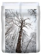 Winter Tree Perspective Duvet Cover
