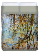Winter Tree Reflections Duvet Cover