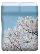 Winter Tree Scene Duvet Cover