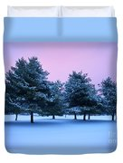 Winter Trees Duvet Cover by Brian Jannsen
