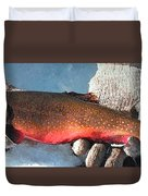 Winter Trout Duvet Cover
